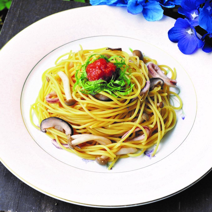 【美ごはん】さっぱり食べやすい 和風梅スパゲッティ