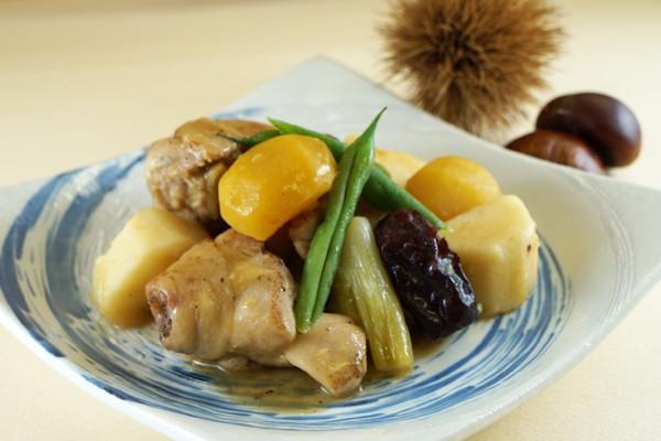 鶏と栗のべっこう煮