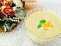 【8月号】爽やかなのどごし!枝豆とコーンの冷製スープ