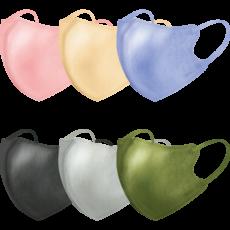 立体型スパンレース不織布カラーマスク 7枚入 全6色