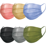 スパンレース不織布カラーマスク 7枚入 全6色